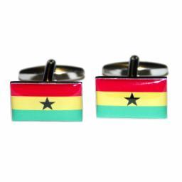 Ghana Flag Cufflinks (BOCF16)