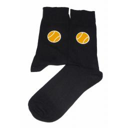 Tennis Ball Socks - Perfect for the Sportsman, Great Novelty Gift Socks Luxury Cotton Novelty Socks Adult size UK 6-12 Euro 39-49