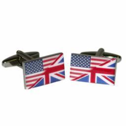 Union Jack Mixed with Stars & Stripes Cufflinks (BOCF59)