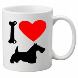 I Love Scottish Terrier, Scottie Dogs on a Quality Mug, Birthday or Christmas Gift Great Novelty 11oz Mug