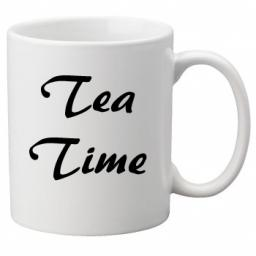 Tea Time, Quality Mug perfect as a Birthday or Christmas Gift Great Novelty 11oz Mug
