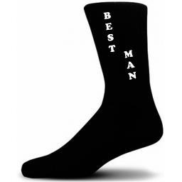 Vertical Design Best Man Black Wedding Socks Adult size UK 6-12 Euro 39-49