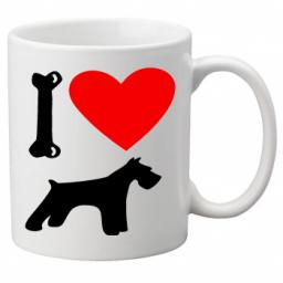 I Love Schnauzer Dogs on a Quality Mug, Birthday or Christmas Gift Great Novelty 11oz Mug