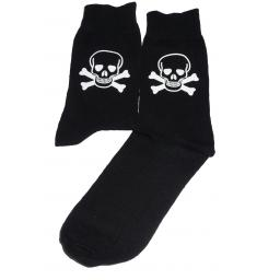 Skull & Crossbones Socks, Great Novelty Gift Socks Luxury Cotton Novelty Socks Adult size UK 6-12 Euro 39-49
