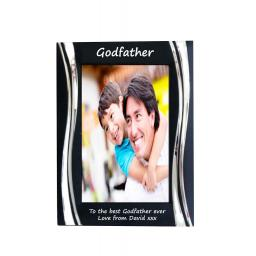 Godfather Black Metal 4 x 6 Frame - Personalise this frame - Free Engraving