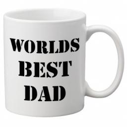 Worlds Best Dad (Black Colour Design) 11oz Mug