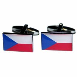 Czech Republic Flag Cufflinks (BOCF40)