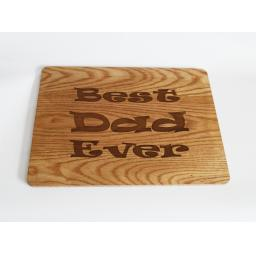 Best Dad Ever Wooden Engraved Place Mat