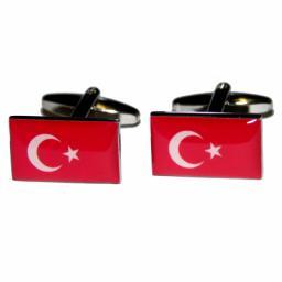 Turkey Flag Cufflinks (BOCF47)