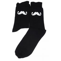 Handlebar Moustache Design Socks Great Novelty Gift Socks Luxury Cotton Novelty Socks Adult size UK 6-12 Euro 39-49