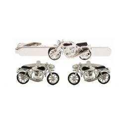 Motor Bike Cufflink and Tie Bar Set All our cufflinks come presented in a gift box