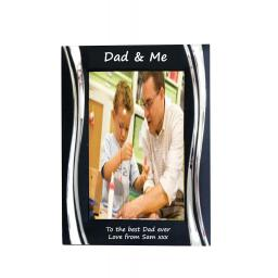 Dad & Me Black Metal 4 x 6 Frame - Personalise this frame - Free Engraving