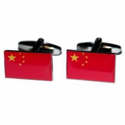China Flag Cufflinks (BOCF34)