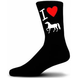 I Love My Horse Socks, Great Novelty Gift Socks Luxury Cotton Novelty Socks
