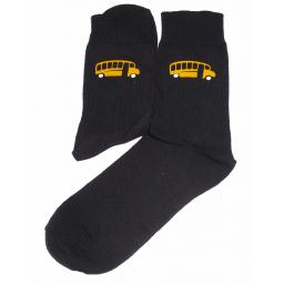 Yellow Bus Design Socks Great Novelty Gift Socks Luxury Cotton Novelty Socks Adult size UK 6-12 Euro 39-49