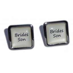 Brides Son Ivory Square Wedding Cufflinks
