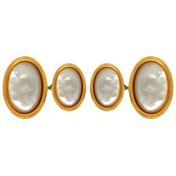 Mother of Pearl Oval Chain Cufflinks A Great High Quality Product