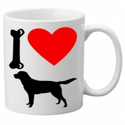 I Love Labrador Dogs on a Quality Mug, Birthday or Christmas Gift Great Novelty 11oz Mug