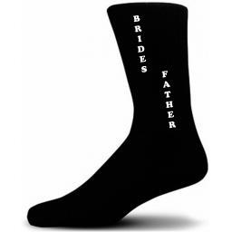 Vertical Design Brides Father Black Wedding Socks Adult size UK 6-12 Euro 39-49