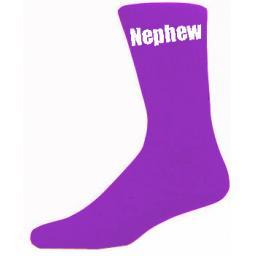 Purple Mens Wedding Socks - High Quality Nephew Purple Socks (Adult 6-12)