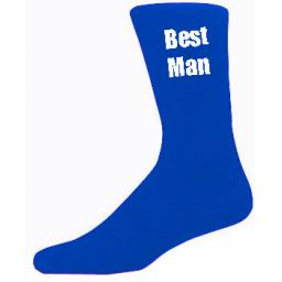 Blue Mens Wedding Socks - High Quality Best Man Blue Socks (Adult 6-12)