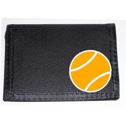 Tennis Ball on a Black Nylon Wallet, Birthday, Fathers Day or Christmas Gift
