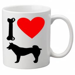 I Love Husky Dogs on a Quality Mug, Birthday or Christmas Gift Great Novelty 11oz Mug