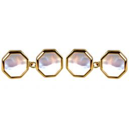 Mother of Pearl Octagon Chain Cufflinks A Great High Quality Product