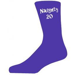 Quality Purple Naughty 20 Age Socks, Lovely Birthday Gift Great Novelty Socks for that Special Birthday Celebration
