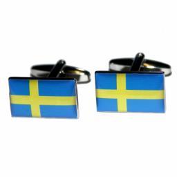 Sweden Flag Cufflinks (BOCF46)