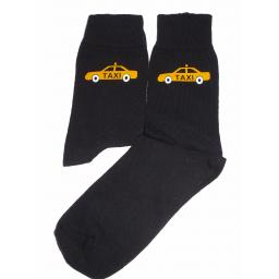 Yellow Taxi Design Socks Great Novelty Gift Socks Luxury Cotton Novelty Socks Adult size UK 6-12 Euro 39-49