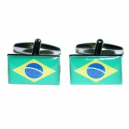 Brazil Flag Cufflinks (BOCF25)