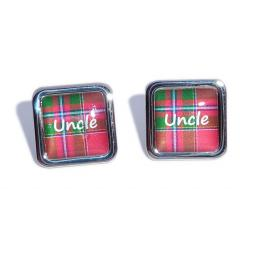 Uncle Red Tartan Square Wedding Cufflinks