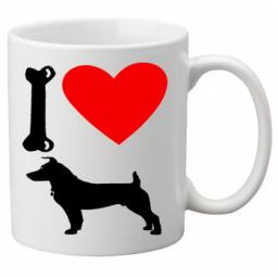 I Love Jack Russell Dogs on a Quality Mug, Birthday or Christmas Gift Great Novelty 11oz Mug