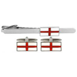 St George Flag Cufflink and Tie Slide Set A Great High Quality Product