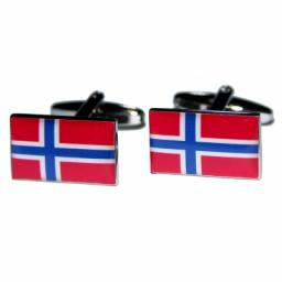 Norway Flag Cufflinks (BOCF42)