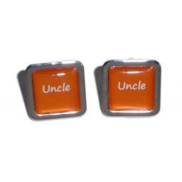 Uncle Orange Square Wedding Cufflinks