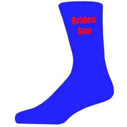 Blue Wedding Socks with Red Brides Son Title Adult size UK 6-12 Euro 39-49