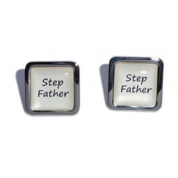 Stepfather Ivory Square Wedding Cufflinks