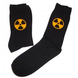 Radioactive Symbol Socks, Great Novelty Gift Socks Luxury Cotton Novelty Socks Adult size UK 6-12 Euro 39-49