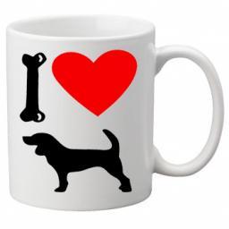 I Love Beagle Dogs on a Quality Mug, Birthday or Christmas Gift Great Novelty 11oz Mug