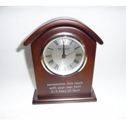 Mantel Clock - Brown Wood, Desk Clock - Personalise this clock - Free Engraving
