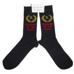 Gardener of the Year Socks, Great Novelty Gift Adult size UK 6-12 Ideal for a Christmas, birthday or anytime gift