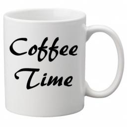Coffee Time, Quality Mug perfect as a Birthday or Christmas Gift Great Novelty 11oz Mug