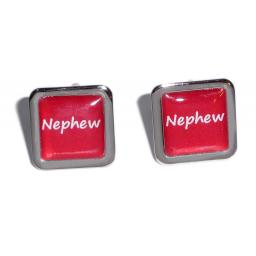 Nephew Red Square Wedding Cufflinks