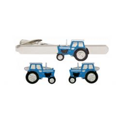 Blue Tractor Cufflink and Tie Slide Set All our cufflinks come presented in a gift box