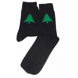 Green Christmas Tree Socks with crystal decorations Socks Great Novelty Gift Socks Luxury Cotton Novelty Socks Adult size UK 6-12 Euro 39-49