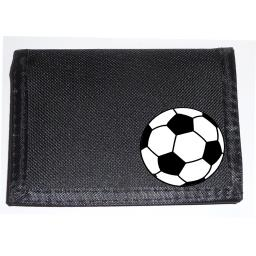 Football on a Black Nylon Wallet, perfect for the Footie Fan, Birthday, Fathers Day or Christmas Gift
