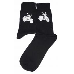 White Scooter Design Socks Great Novelty Gift Socks Luxury Cotton Novelty Socks Adult size UK 6-12 Euro 39-49