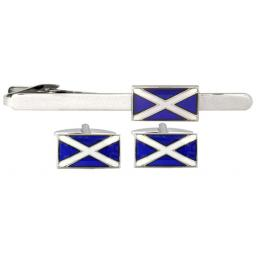 Scottish flag Set - Rhodium plate A Great High Quality Product